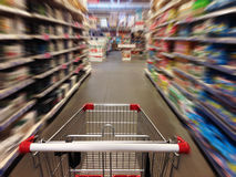 Shopping in supermarket Stock Images