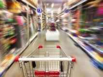 Shopping in supermarket Royalty Free Stock Photos