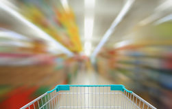 Shopping in supermarket Stock Photos