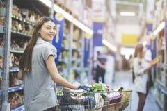 Shopping at supermarket, shopping concept Stock Photo