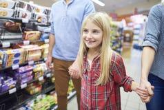 Shopping at the supermarket Stock Photos