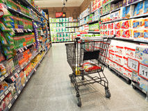 Shopping in supermarket. Shopping in top supermarket mall Royalty Free Stock Photography