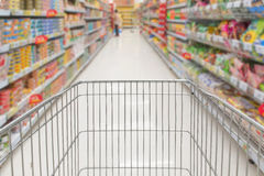 Shopping in supermarket  Royalty Free Stock Image