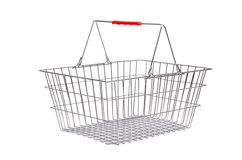 Shopping supermarket trolley isolated Royalty Free Stock Image