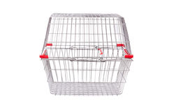 Shopping supermarket trolley isolated Stock Photography