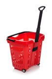 Shopping supermarket trolley isolated Stock Photos