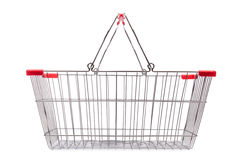 Shopping supermarket trolley isolated Royalty Free Stock Photography