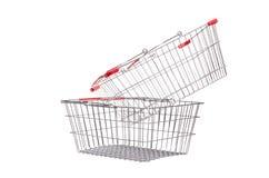 Shopping supermarket trolley isolated Royalty Free Stock Image