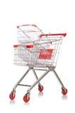 Shopping supermarket trolley isolated Stock Image