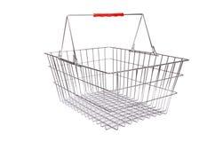 Shopping supermarket trolley isolated Royalty Free Stock Photo