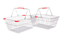 Shopping supermarket trolley isolated Royalty Free Stock Images