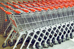 Shopping supermarket trolley Stock Photo