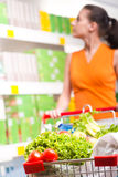 Shopping at supermarket Royalty Free Stock Image