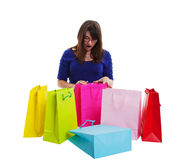 Shopping Surprise Stock Photo