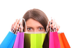 Shopping surprise Royalty Free Stock Photo