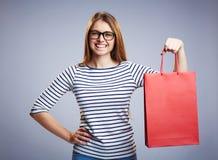 Shopping surprise Royalty Free Stock Image