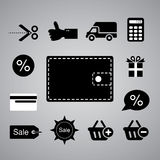 Shopping symbol Royalty Free Stock Images