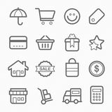 Shopping symbol line icon Stock Photo