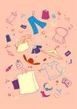 Shopping symbols Stock Photography