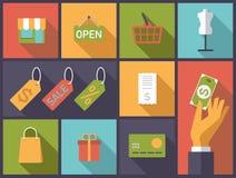 Shopping symbols vector illustration. Stock Photos