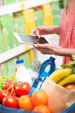 Shopping with tablet Royalty Free Stock Photography