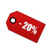 Shopping tag. Isolated on white Stock Photography