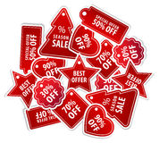 Shopping Tag Labels Royalty Free Stock Photo