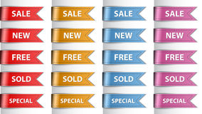 Shopping labels Royalty Free Stock Image
