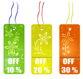 Shopping tags Royalty Free Stock Photos