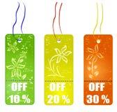Shopping tags vector illustration