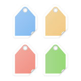 Shopping tags with curled corners Royalty Free Stock Image