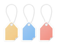 Shopping tags with curled corners Royalty Free Stock Photography