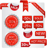 Shopping tags (labels) set 1 Royalty Free Stock Image