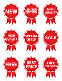 Shopping tags - Red Royalty Free Stock Image