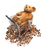 Shopping for Teddy Royalty Free Stock Image