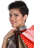 Shopping teenage girl Stock Photography