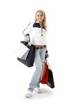 Shopping teenage girl Stock Image