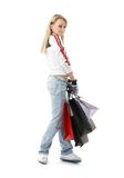 Shopping teenage girl #3 Stock Photos
