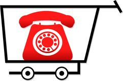 Shopping for telephones Royalty Free Stock Images