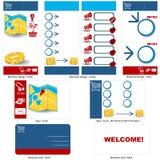 Shopping template design Stock Photo