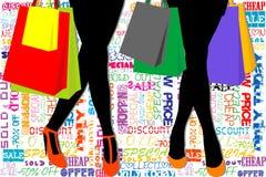 Shopping template Stock Photos