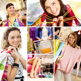 Shopping theme Royalty Free Stock Image
