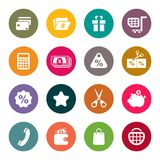 Shopping theme icon set Royalty Free Stock Image