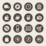 Shopping theme icons Royalty Free Stock Image