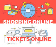 Shopping and Tickets Online Concept Stock Image
