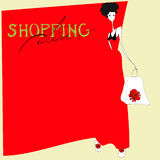 Shopping time. Universal template for greeting card, web page, background Royalty Free Stock Photo