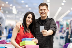 Shopping time stock photography