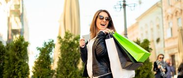 Shopping time is the best time ever! Stock Image