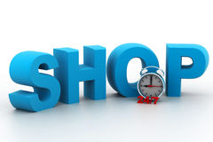 Shopping time concept. 3d render of shopping time concept Royalty Free Stock Photography