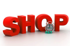 Shopping time concept. 3d render of shopping time concept Stock Images